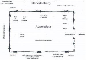 <a id='anker13' href='https://www.versteckte-geschichte-markkleeberg.de/quellenverzeichnis#aussenlager-des-kz-buchenwald13' target='_new'>Abb. 1: Lagerplan nach Angaben einer <br /> ehemaligen Häftlingsfrau</a>