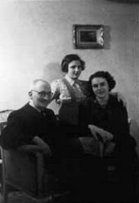Ludwig und Olla Bamberger mit Tochter Steffi